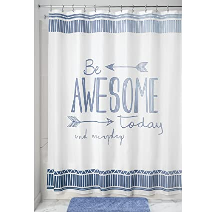 InterDesign Nyc Fabric Shower Curtain 72 X 72quot