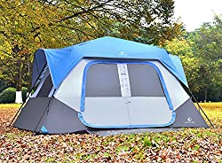 ALPHA CAMP 8 Person Instant Cabin Tent Camping/Traveling Family Tent Lightweight Rainfly With Mud Mat