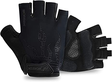 Ladies Gel Gloves Cycle Half Finger Bicycle Cycling Padded Fingerles New S to XL