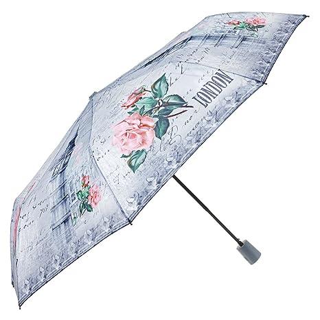 Paraguas de Mujer automático de Viaje fantasía Ciudad - Paraguas Plegable Perletti – Paraguas Elegante,