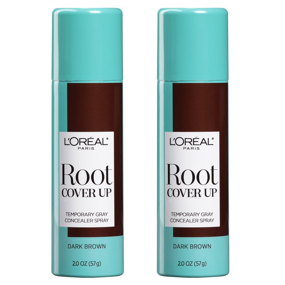 L'Oreal Paris Hair Color Root Cover Up Hair Dye, Dark Brown, 2 Ounce (Pack of 2)