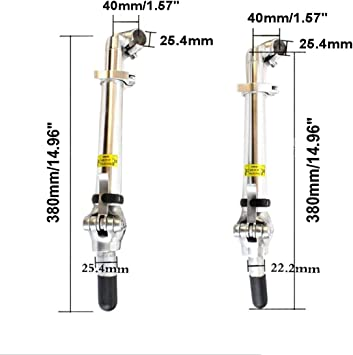 WE-WHLL V/élo Guidon Fourche Avant Tige Alliage Daluminium 22.2mm Adaptateur V/élo Accessoires
