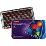 DERWENT Coloursoft Colouring Pencils Tin (Set of 36)