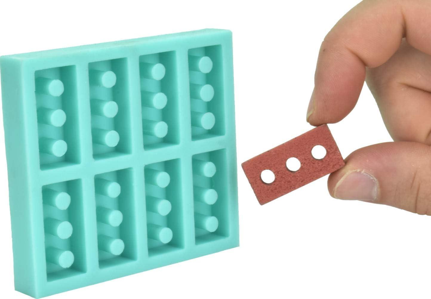 Acacia Grove Miniature Brick Mold (1:6 Scale), Silicone Rubber
