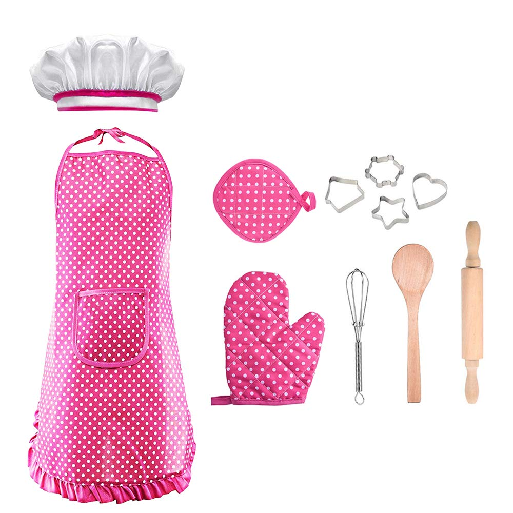 Birthday Gifts for 3-8 Year Old Girls Boys, SOKY Cooking and Baking Set Career Role Play Costume for Kids Age 3-8 Girls Baking Set for Girl Kids 3-8 Toddlers Christmas New Gifts Stocking Fillers SKCS2 by SOKY