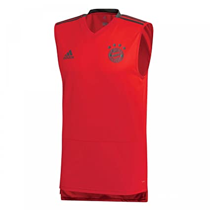 Image Unavailable. Image not available for. Color  adidas 2018-2019 Bayern  Munich Sleeveless Football Soccer T-Shirt Jersey (Red) 3bf530c0c