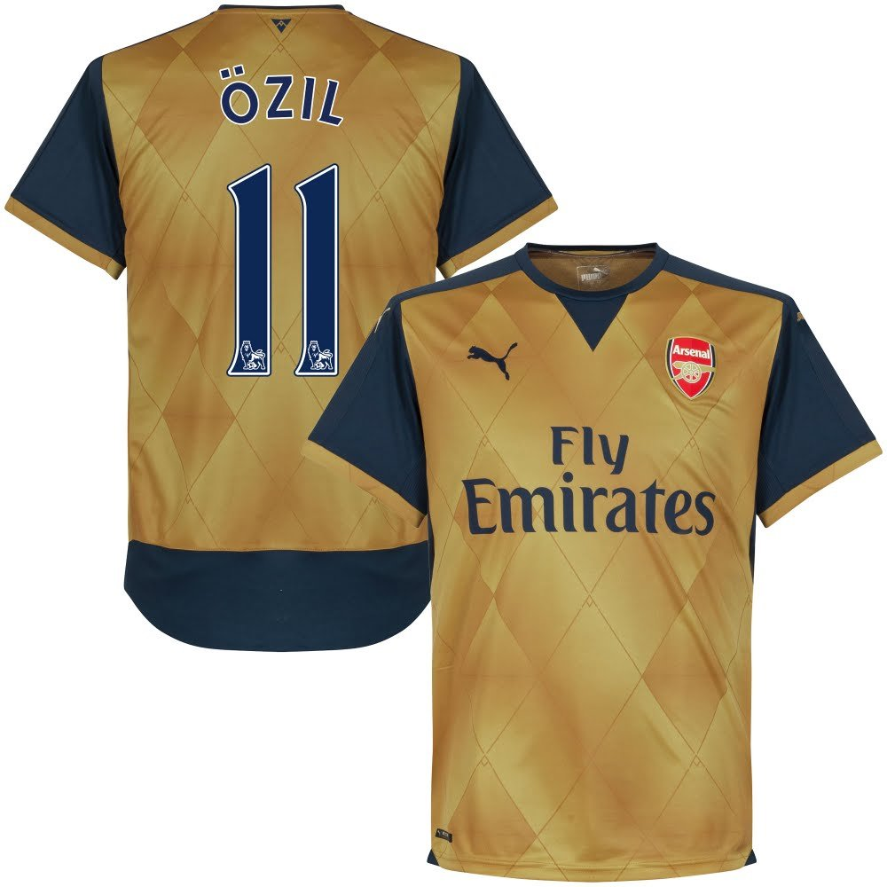 Arsenal Away Özil Jersey 2015/2016 (Official PS/Pro Player Printing)
