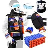 TAVEKI Tactical Vest Kit for Guns for Boys N-Elite Series with Foam Darts for Kids