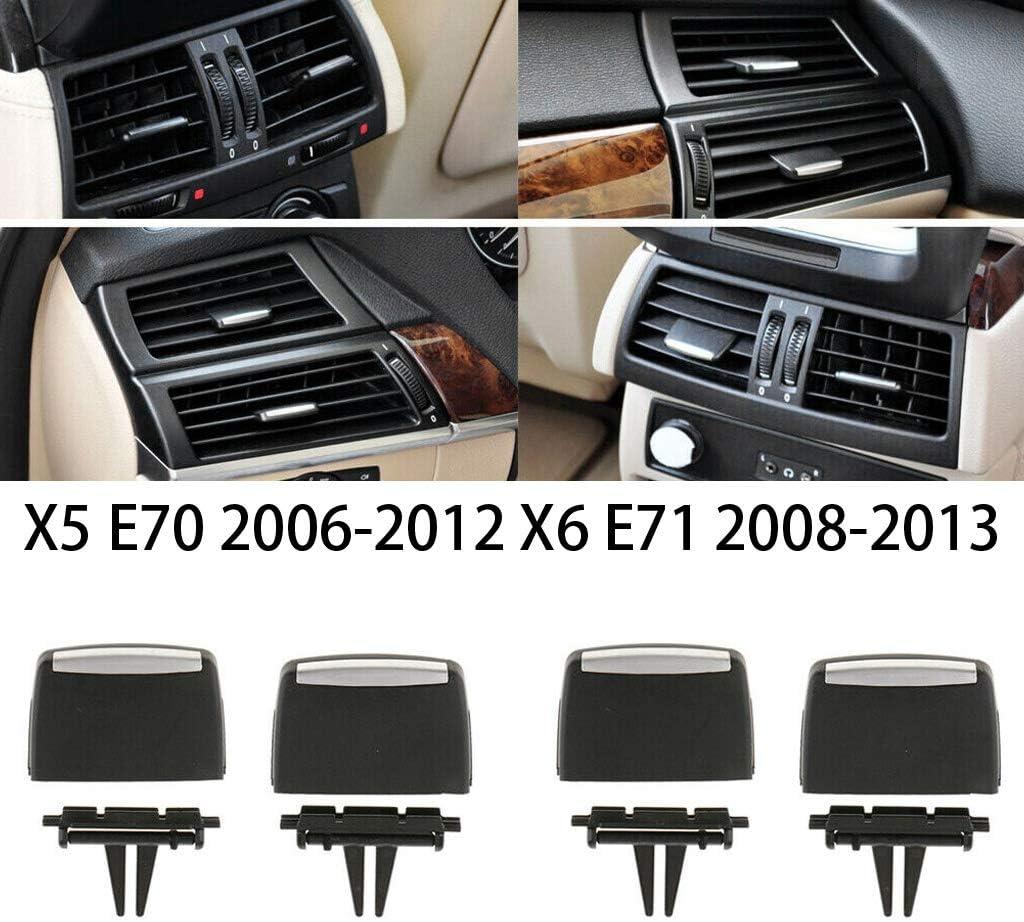 Andifany Clip de Leng/üEta de Salida de Ventilaci/óN de Aire 4 Uds Clips de Rejilla de Aire Fresco de Delantera y Trasera para X5 E70 2006-2012 X6 E71 2008-2013