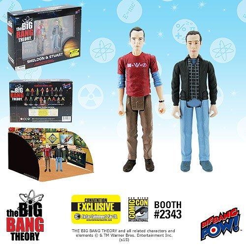 The Big Bang Theory Sheldon & Stuart Figures -Con. Exclusive