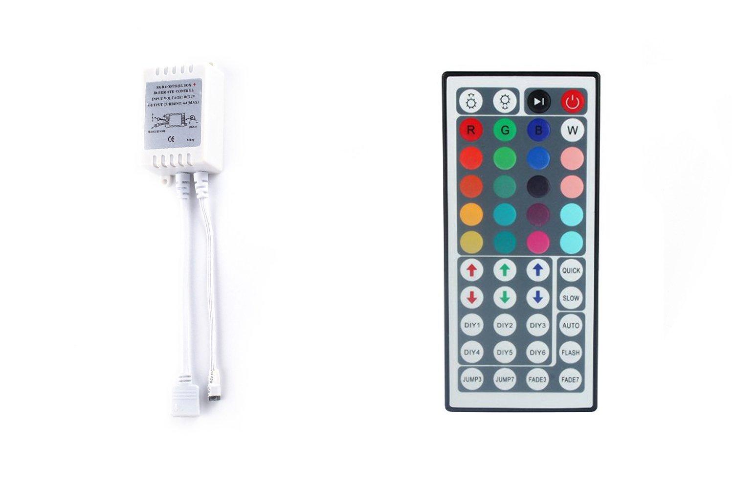 ALED LIGHT® 12/24V IR Remote Control Controller 44 Keys Brightness Adjust for Led Strip