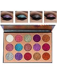 Beauty Glazed Pigmented 15 Colors Glitter Eyeshadow...