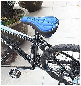 غطاء وسادة مريح على شكل مقعد دراجة ثلاثي الأبعاد من مارجون، مصنوع من مادة إسفنجية عالية الجودة، محشو بجل السيليكون، مقاوم للاهتراء، متين، خفيف وسهل التركيب - أزرق