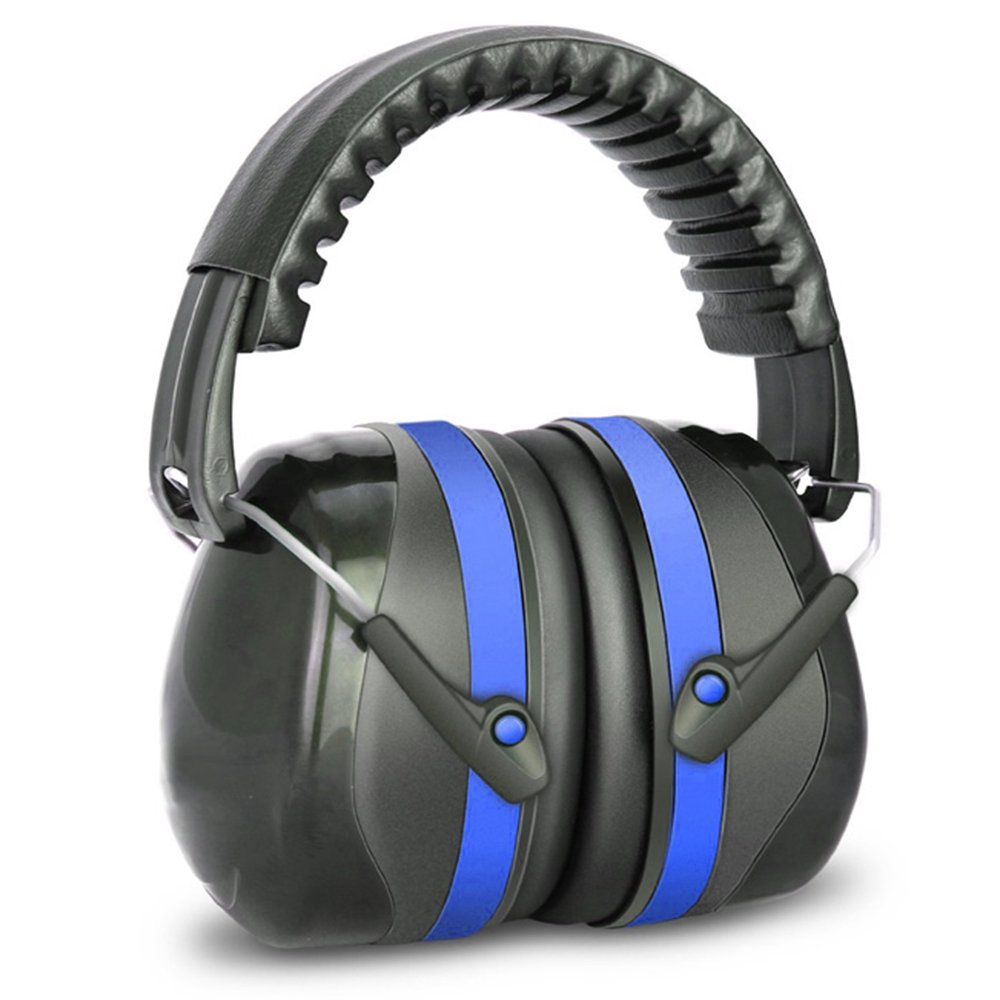 EAREST Noise Reduction Safety Ear Muffs, NRR 32dB Professional Ear Defenders for Shooting, Hearing Protector Fits Adults to Kids, Blue & Black