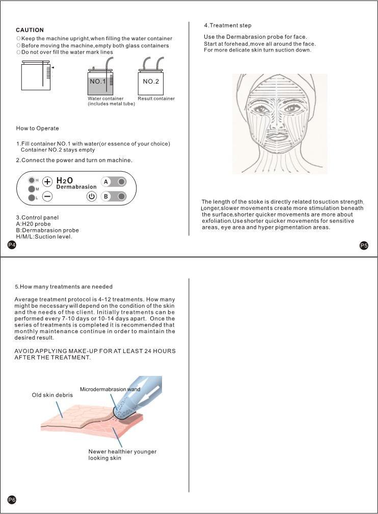 Airblasters Hydro Microdermabrasion Dermabrasion Water Peeling Facial Skin Care Machine