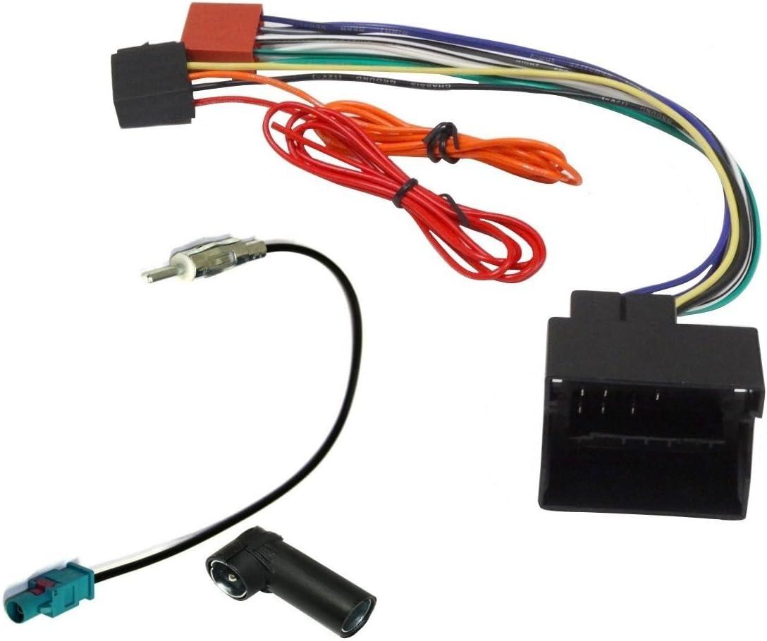 AERZETIX: Adaptador con ISO cables enchufes y antena para ...