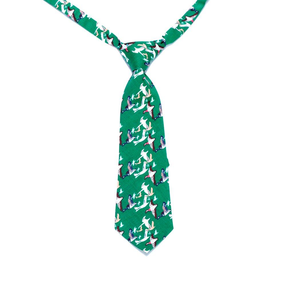2-5y Peppercorn Kids Boys Flying Birds Necktie-Green-S//m
