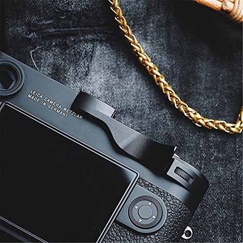 (RAYANSPHOTO Thumb Rest Grip with Camera Hot Shoe Cover Black for Leica M10 Mirrorless M10)