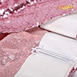 LQIAO Pink Gold Sequin Curtain Panel