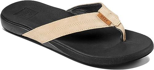 the best attitude new list on feet images of Amazon.com: Reef Men's Cushion Bounce Phantom LE Sandal, Leather ...