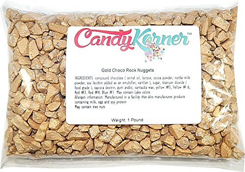 Chocorocks Gold Nuggets| Candy Coated Chocolate Shaped Gold Nuggets | 1 Pound ( 16 OZ )]()