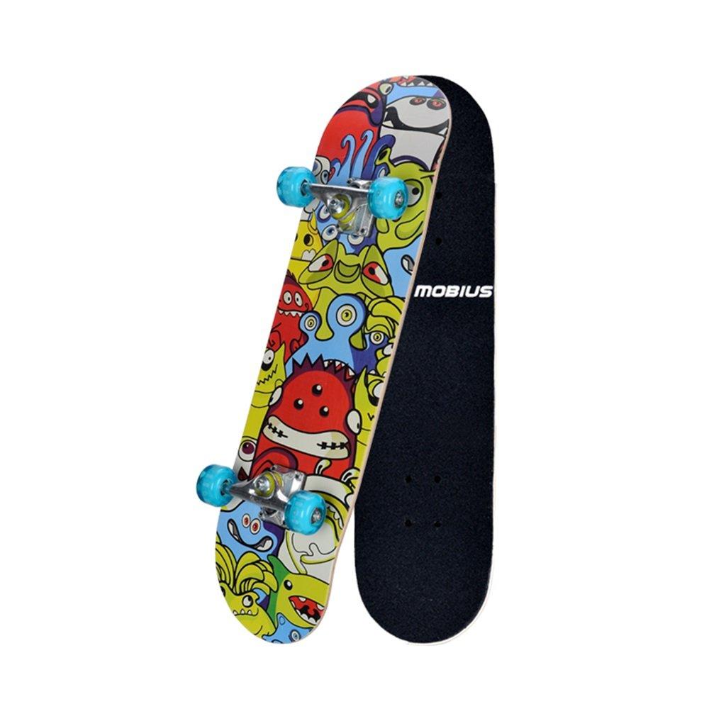ボード上のスケートボード点滅ホイール4輪4輪駆動(カラー:マルチカラー)