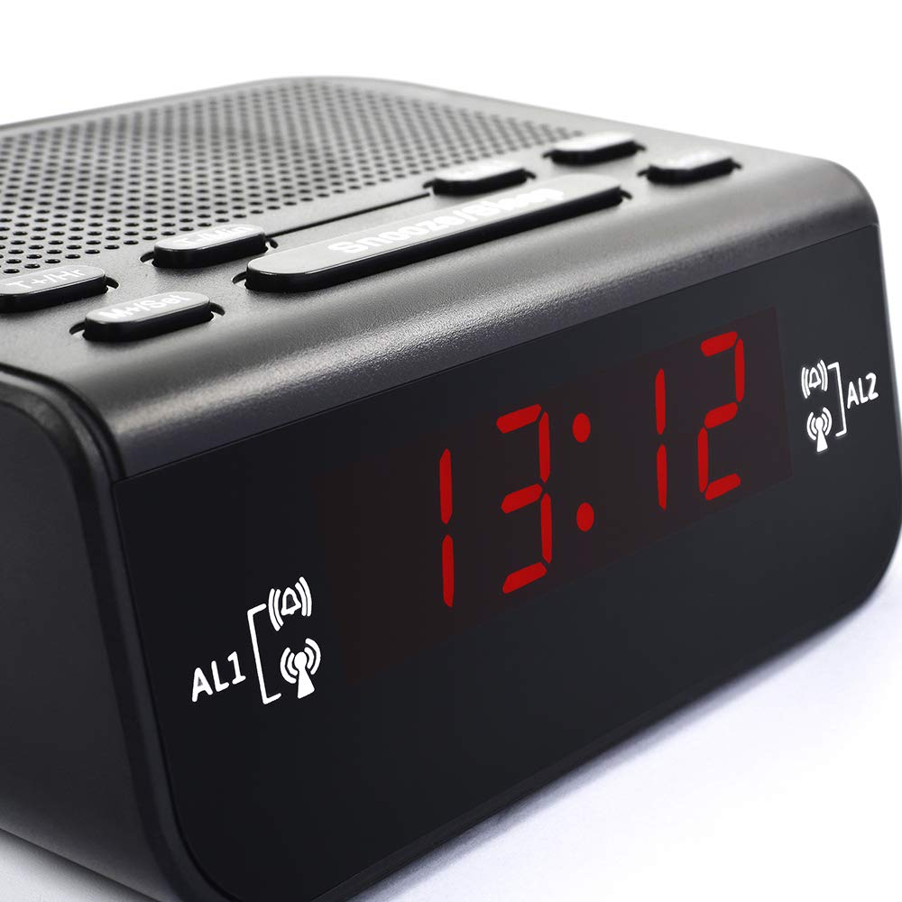 Amazon.com: GHKL LED Fantastic Fm Radio Digital Clock Alarm Clock with Snooze Fuction Compact Modern Design Reloj Digital Pared: Home & Kitchen