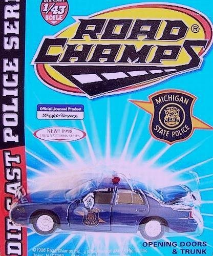 ROAD CHAMPS, 1:43 SCALE, DIE CAST METAL, MICHIGAN STATE POLICE, CHEVROLET CAPRICE by Road Champs ()