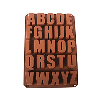 Musuntas 26 Inglés moldes Cartas del chocolate de silicona moldes moldes de la vela del jabón