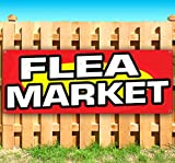 FLEA Market 13 oz Heavy Duty Vinyl Banner Sign with Metal Grommets, New, Store, Advertising, Flag, (Many Sizes Available)