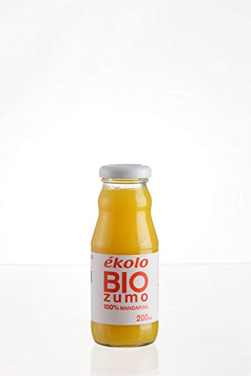 Ekolo Zumo de Mandarina Ecológico, 100% Exprimido, 12 Botellas x 200 ml, 2400 ml: Amazon.es: Alimentación y bebidas