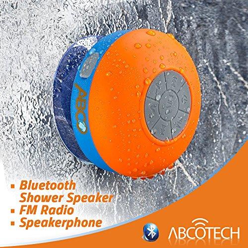 Bluetooth Shower Speaker Fm Radio Water Resistant
