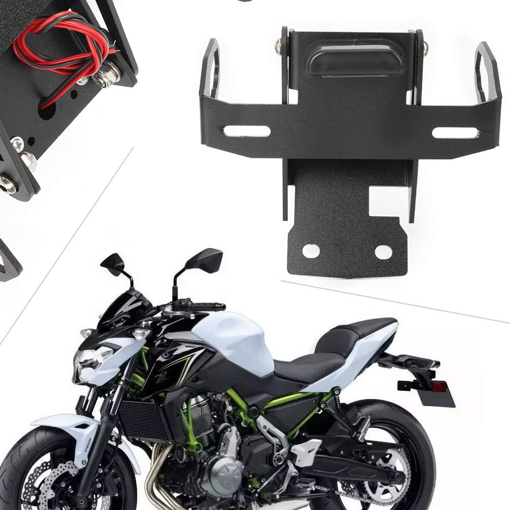 Amazon.com: Timmart Motorcycle License Plate Holder LED Tail ...