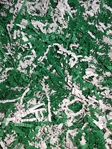 <3 HEARTS & ARROWS --> Accordion Cut Gift Filler Paper (Green / White, 8 oz)