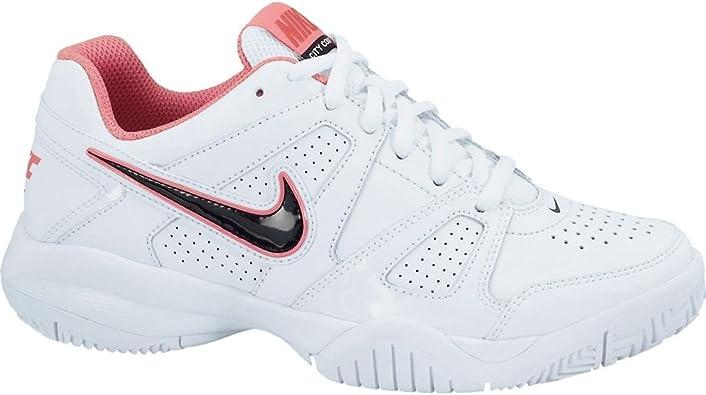 Nike City Court 7 (GS), Zapatillas de Tenis para Niñas, Blanco/Negro/Rojo (White/Drk Obsdn-Hypr Rd-Dynmc), 35 1/2 EU: Amazon.es: Zapatos y complementos