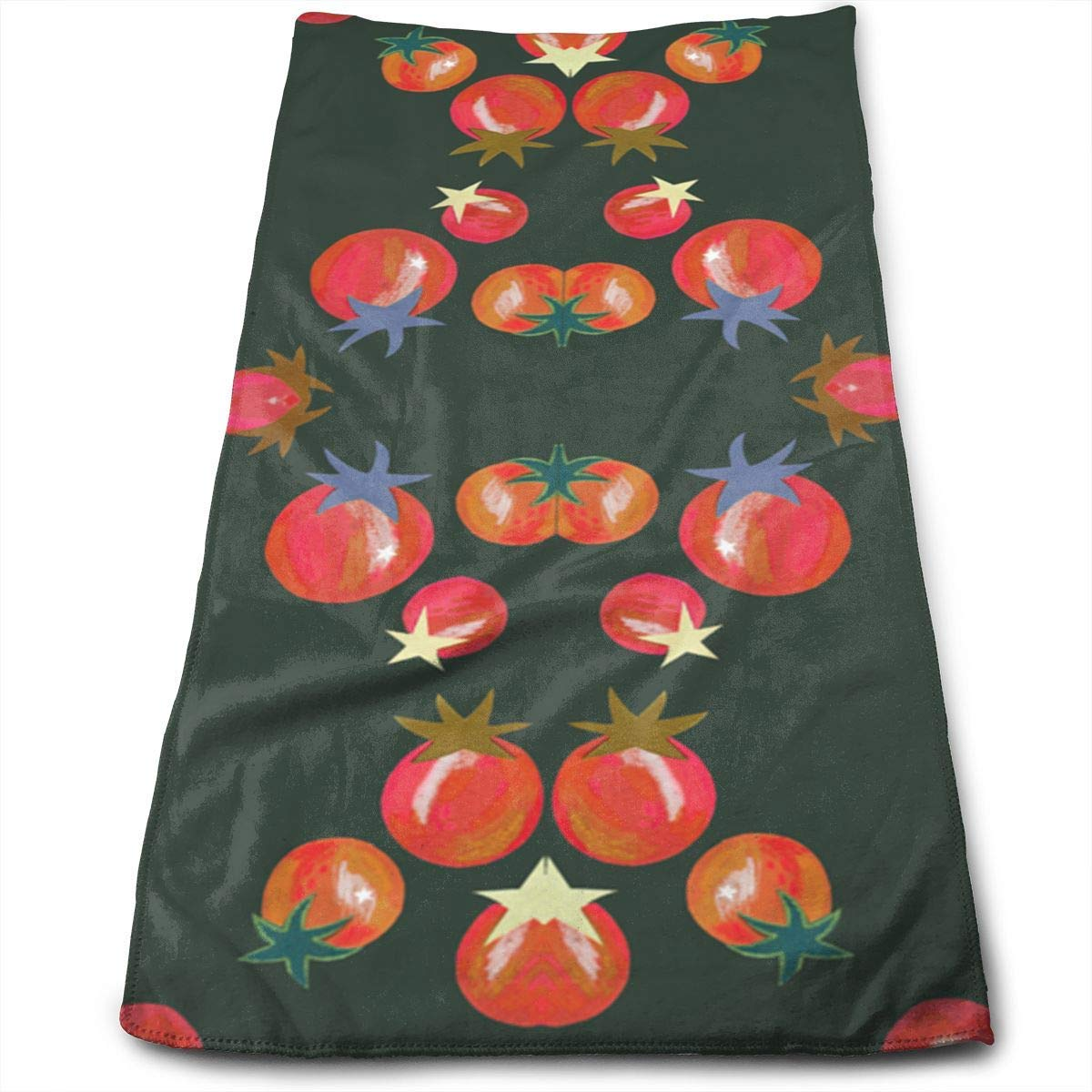 Cherry Tomato Fabric Microfiber Travel & Sports Towel, Ultra Compact, Lightweight, Absorbent and Fast Drying Towels, Ideal for Gym, Beach,Fitness, Exercise, Yoga