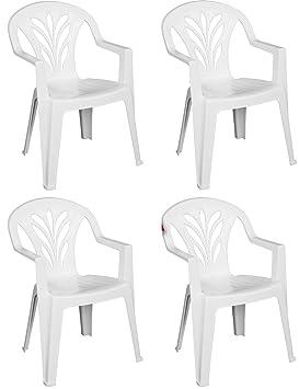 Set de 4 sillas apilables y dotadas de reposabrazos de ...