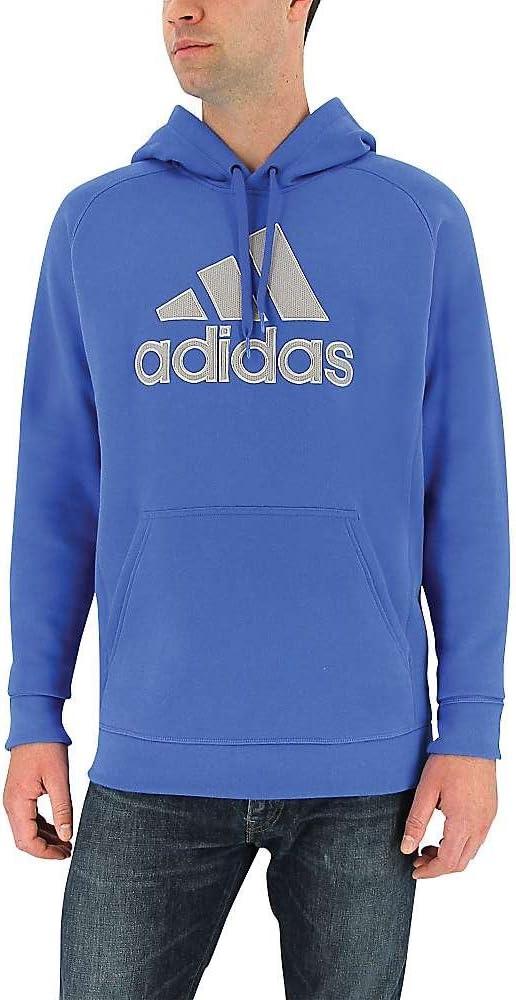 adidas Hombres es Esencial algodón Forro Polar Logo Pullover - F16SPWM0037, XL, Blue/Medium Grey Heather: Amazon.es: Deportes y aire libre