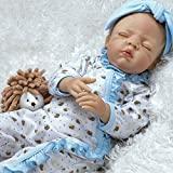 Paradise Galleries Real Life Newborn Doll That Looks Real Hannah & Harley, 19 inch Reborn Baby Girl in GentleTouch Vinyl, 5-Piece Set