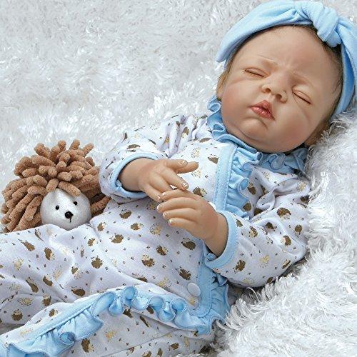 "Paradise Galleries Lifelike Realistic Reborn Like Baby Doll Vinyl 19.5 inch Caucasian Girl Doll Gift ""Hannah & Harley"""