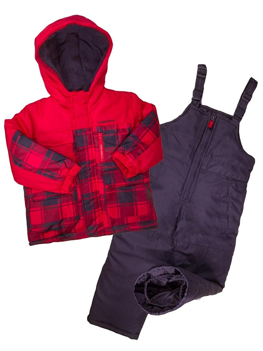 London Fog Boys 2-Piece Plaid Snowsuit Amerex L215ES73