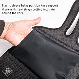 Knee Brace Support Protector - Relieves Patella Tendonitis - Jumpers Knee Mensicus Tear - ACL Lateral & Medial Ligament Sprains Comfort Design TRUE NON-SLIP FIT For Arthritis - Sport - Running