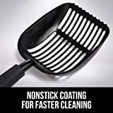 Gorilla Grip Original Cat Litter Scooper, Non-Stick Deep Scoop, Free Storage Holder, Extra Large, Durable Solid Aluminum, Shovel for Sifting Kitty Cats Litter, Rust Resistant, Long Comfy Grip Handle