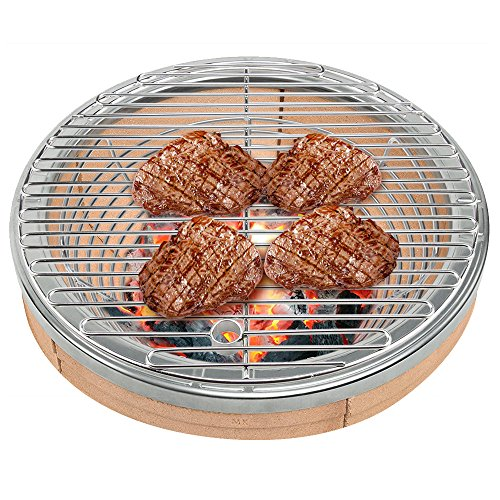 SELEWARE BBQ SUS304 Stainless Steel Round Cooking Grates / Cooking Grid Fit for Kamado Ceramic grill, 19.5 Inch Diameter