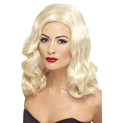 Ladies Long 1920s Glamorous Wig 20s TV Book Film Celebrity Hollywood Fancy Dress Costume Outfit Accessory: Clothing