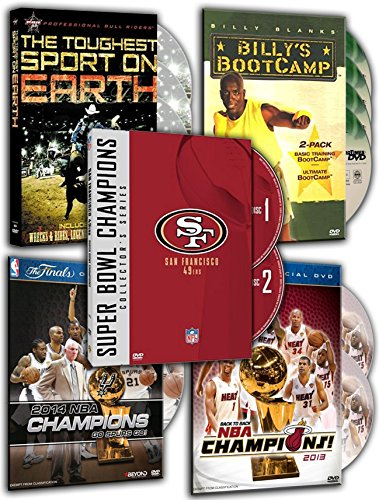 Collection Basics Team (Billy's Bootcamp: Basic Training, Ultimate and AB, NFL Super Bowl Collection - San Francisco 49ers, 2013 NBA Championship: Highlights (Blu-ray / DVD Combo), 2014 NBA Championship: Highli (5 DVDs Pack))