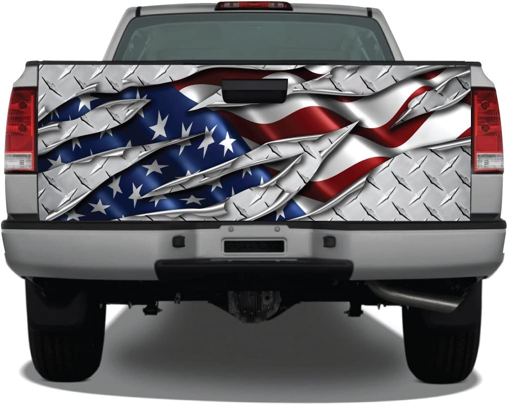 Bright American Flag Pick-Up Truck Tailgate Wraps