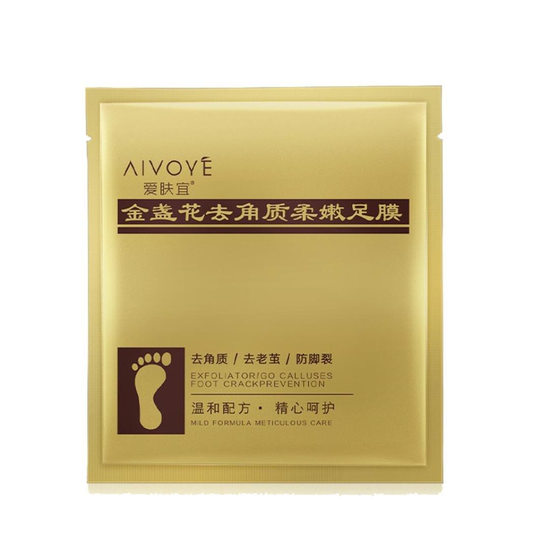 BeautyTop 1Pair Foot Mask Exfoliating Peel Soft Feet Care Remove Cuticles Callus Hard Dead Skin