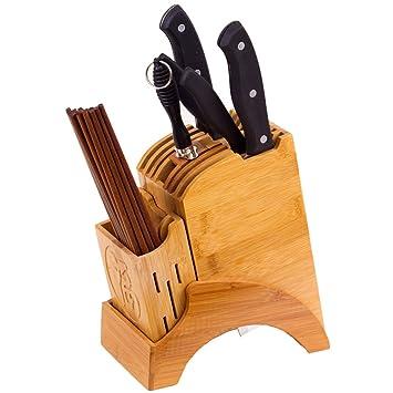 bopstyle encimera de cocina extraíble soporte de bloque de cuchillos/ cubertería de almacenamiento y pantalla accesorio de Essentials Juego de cuchillos, ...