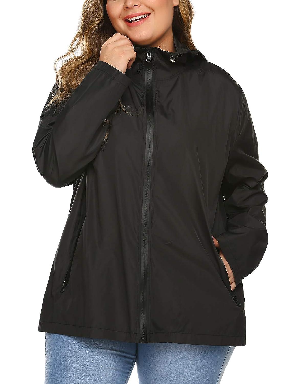 Amazon.com: INVOLAND - Chaqueta impermeable con capucha ...